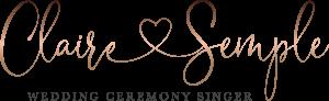 Claire Semple Wedding Ceremony Singer